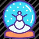 ball, christmas, crystal, gift, snow, snowman, xmas icon