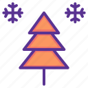 christmas, cold, new year, snow, snowfall, tree, winter icon