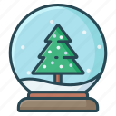 ball, christmas, globe, snow, winter icon