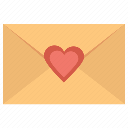 christmas, heart, letter, message icon