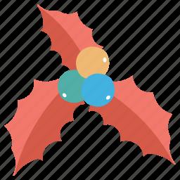 christmas, mistletoe, ornament icon icon