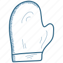 celebration, christmas, cold, glove, winter icon