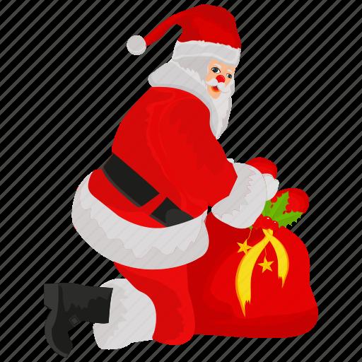 christmas, claus, full santa claus, santa, santa claus icon