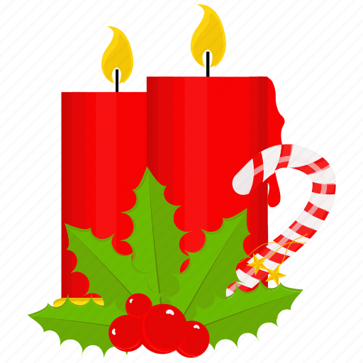 candle, candy, christmas, decoration, weather icon