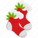 christmas, socks, winter, xmas icon