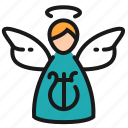 angel, christmas, spirit, wings
