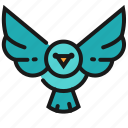 animal, bird, wildlife, wings icon