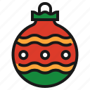 bauble, christmas, christmas ball, decoration icon