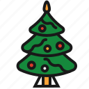 christmas, christmas tree, decoration, fir icon