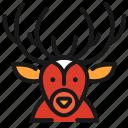 animal, christmas, deer, wildlife
