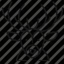 animal, christmas, deer, wildlife icon