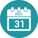 calendar, day, diary, number 31, schedule icon