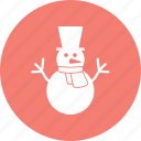 christmas, globe, man, snow icon