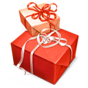 box, christmas, gift, giftbox, line, red icon