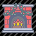 celebration, chimney, christmas, decoration, fire, winter, xmas icon