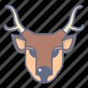 animal, celebration, christmas, deer, xmas icon