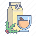 beverage, christmas, decoration, drink, eggnog, xmas icon