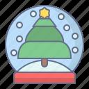 ball, celebration, christmas, crystal, globe, snow, xmas