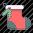 celebration, christmas, decoration, sock, xmas icon