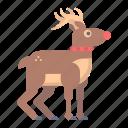 christmas, deer, rudolph, santa, winter, xmas icon