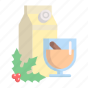 beverage, christmas, drink, eggnog, glass, xmas