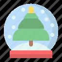 ball, christmas, crystal, decoration, globe, snow, xmas