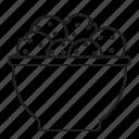 bowl, christmas, cookie, food, jar icon