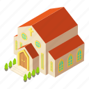 architecture, building, church, isometric, logo, object, pastor