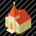 building, church, easter, isometric, logo, object, pastor