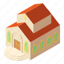 building, church, isometric, logo, object, pastor, religious