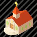 building, chapel, isometric, kirche, logo, object, pastor