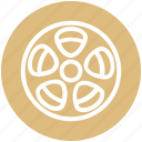 cinema, entertainment, film, movie, reel, roll, spool icon