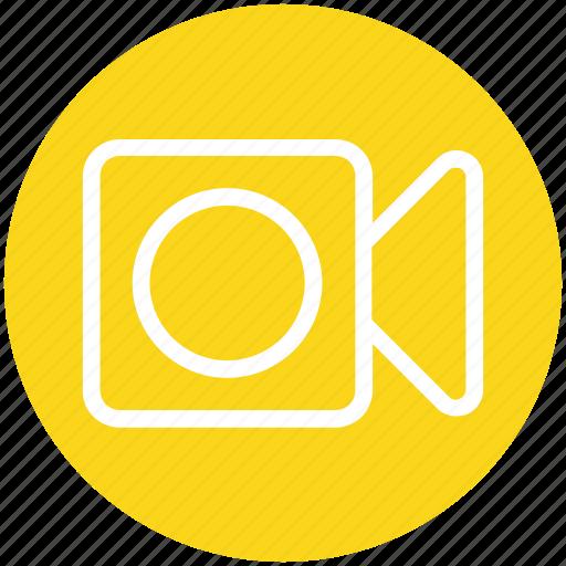 camera, cinema, entertainment, film, movie, video, video camera icon