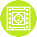 cinema, cinema film reel, film, film reel, movie, movie film reel, video icon
