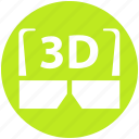3d, 3d glasses, cinema, entertainment, film, goggles, movie icon