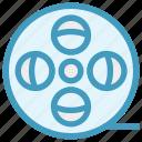 cinema, entertainment, film, movie, reel, roll, spool icon