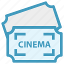 cinema, cinema ticket, concert, movie, raffle, theater, ticket