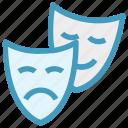 cinema, entertainment, masks, miscellaneous, play, theater, theatre icon