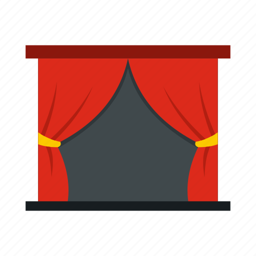 chair, curtain, performance, show, stage, theater, velvet icon