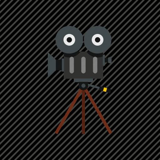 camera, film, movie, reel, retro, tripod, video icon
