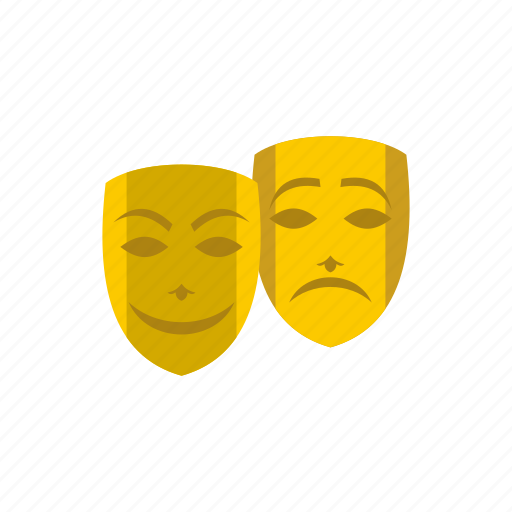art, comedy, face, humor, mask, performance, theater icon