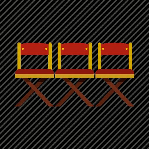 chair, cinema, entertainment, film, movie, seat, show icon