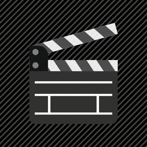 cinema, clap, clapboard, entertainment, film, movie, video icon