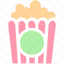 cinema, corn, film, food, movie, popcorn, snack icon