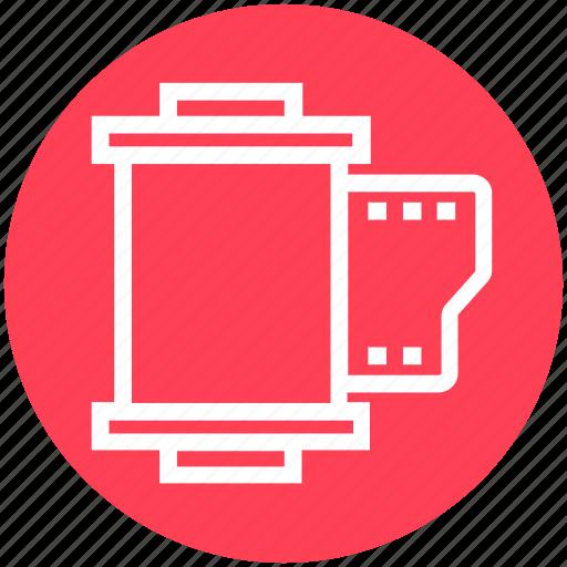 camera, cinema, film, film cartridge, movie, reel, video icon