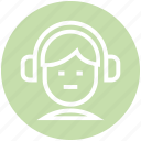 earphone, hand free, headphone, music, people, songs, sound icon