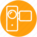 camcorder, camera, handy cam, handy camera, video camera, video recording icon