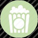 cinema, corn, film, food, movie, popcorn, snack icon
