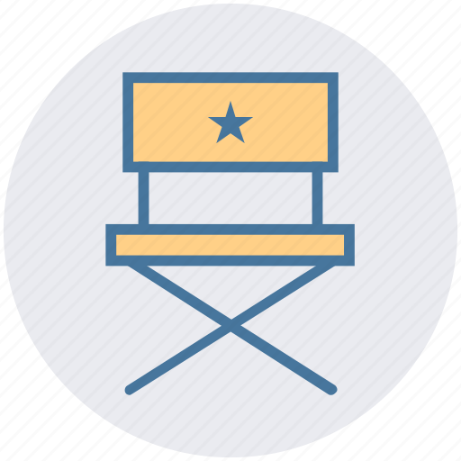 Chair, cinema, director, entertainment, musicians chair, set, swivel icon - Download on Iconfinder