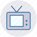 entertainment, film, movie, news, television, tv, tv set icon
